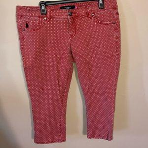 Red polkadot jeans